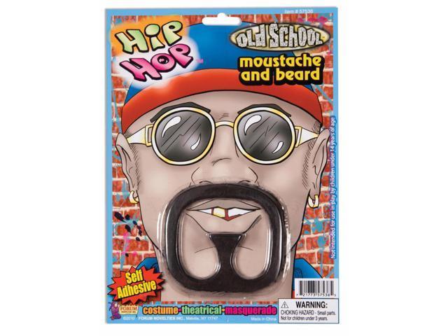 Hip Hop Rapper Star Moustache & Beard Costume Set