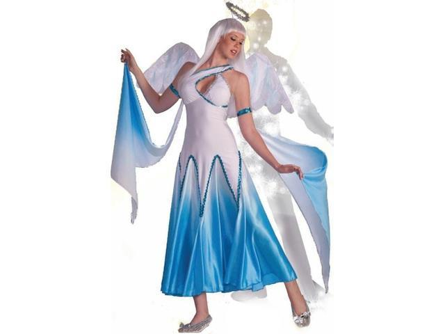 Haunted Ballroom Blue & White Angel Dress Costume Adult X-Small/Small