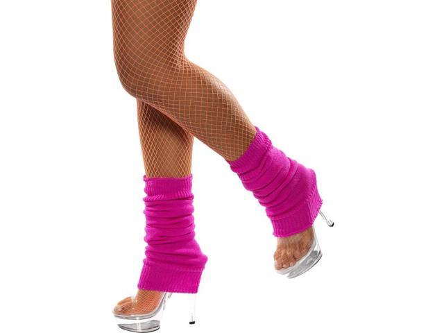 80's Neon Hot Pink Leg Warmers Costume Accessory