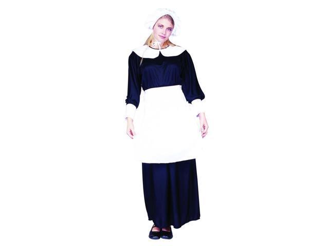 Pilgrim Lady Blue & White Dress Costume Adult Standard