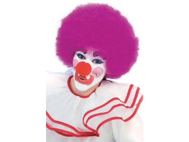 Clown Curly Afro Adult Costume Purple Wig