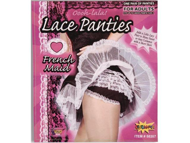 French Maid Lace Costume Panties
