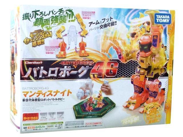 Battroborg 4G Boxing Robot Mantis Knight Orange by Takara