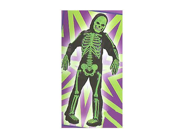 Skelebones Child Costume Green Large