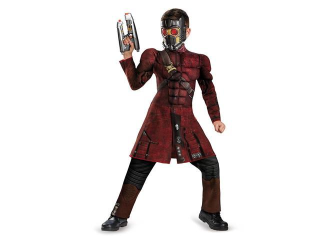 Guardians Of The Galaxy Marvel Star-Lord Muscle Jumpsuit Child Costume 4-6