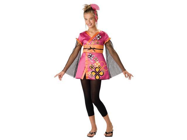 Killer Kimono Japanese Geisha Girl Designer Costume Child Small 8-10