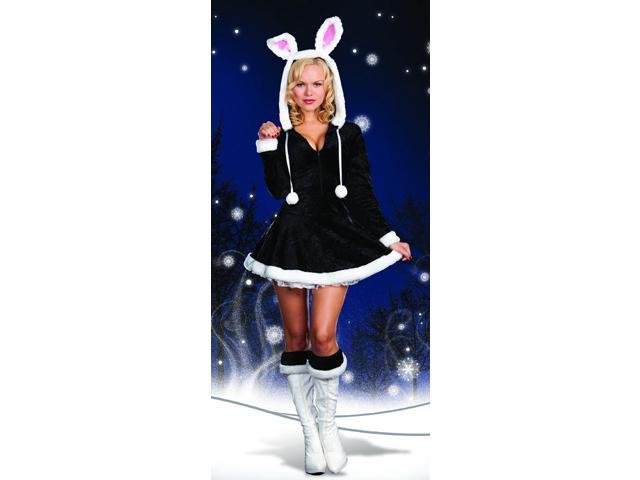 Sexy Hip To The Hoppity Snow Bunny Costume Adult Small