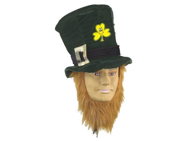 St Patricks Day Irish Costume Hat With Beard