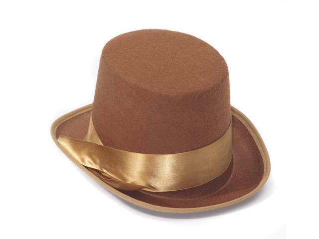 Steampunk Brown Bell Topper Costume Hat Adult