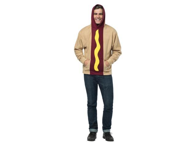 Hot Dog Hoodie Adult Costume Large/X-Large