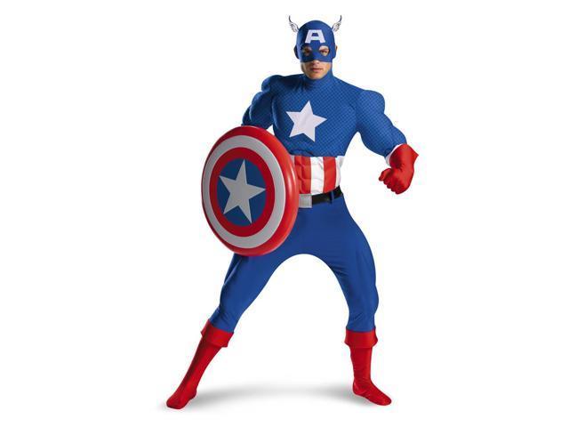 Captain America Superhero Premium Deluxe Costume Adult 42-46