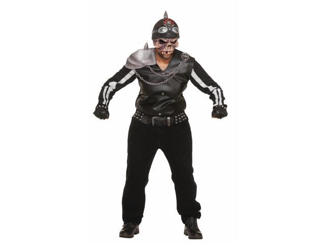 Scary Zombie Biker Motorcycle Rider Costume Adult Standard