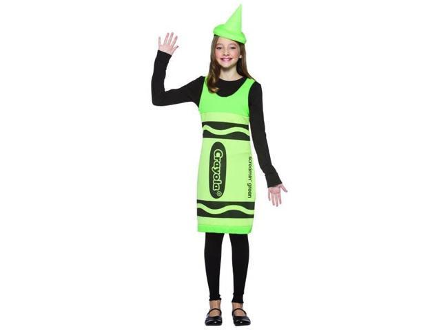 Screamin' Green Crayola Crayon Tank Dress Costume Teen Tween