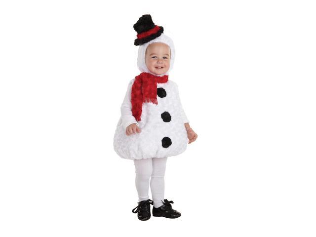 Belly Babies Holiday Snowman Costume Child Toddler X-Large 4-6