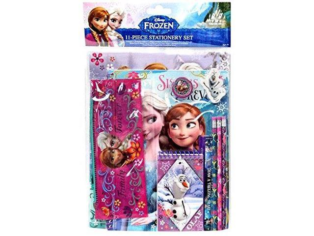 Disney Frozen Elsa Anna Olaf School Supply Stationary Kit 11Piece Set