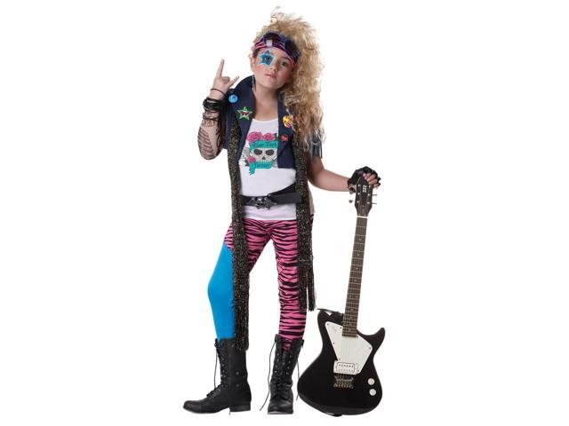 80's Glam Punk Rocker Costume Child Medium 8-10