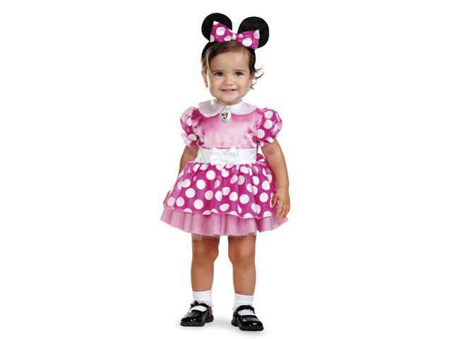 Disney Pink Polka Dot Minnie Mouse Dress Costume Infant 12-18 Months