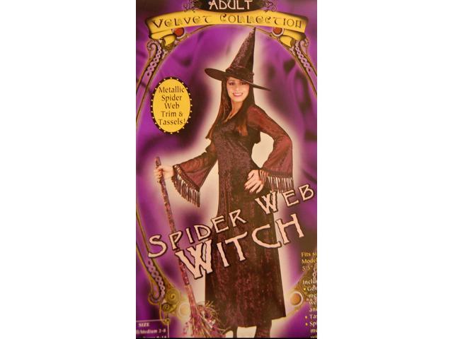 Spider Web Witch Costume Small/Medium 2-8