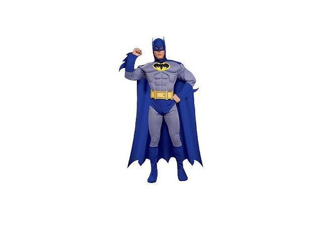 Batman Brave And Bold Deluxe Muscle Chest Batman Adult Costume Medium