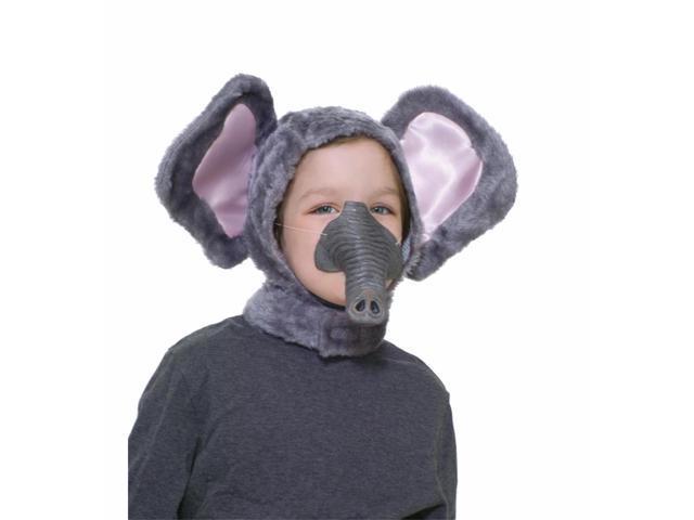 Elephant Hood & Nose Animal Costume Set Child Standard