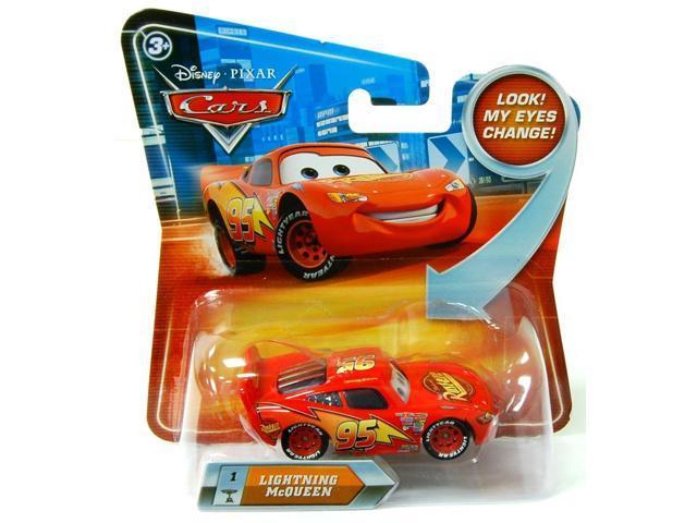 Disney Cars 1:55 Die Cast Vehicle Lenticular Eyes: Lightning Mcqueen