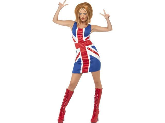 Sexy Ginger Power Union Jack Costume Dress Adult Small
