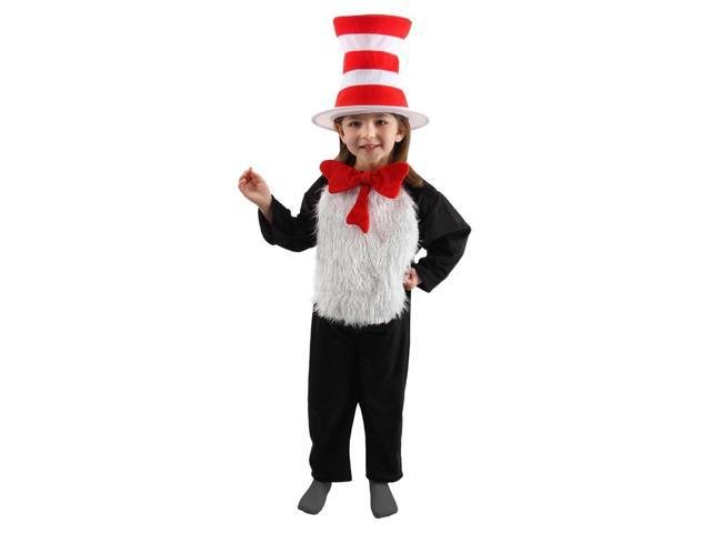 Dr. Seuss Cat In Hat Costume Child Small 4-6