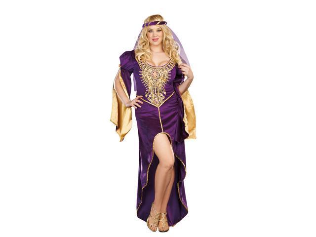 Sexy Renaissance Queen Of Thrones Costume Dress Adult Plus Plus 1X/2X
