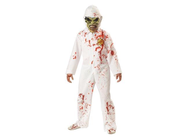 Bloody Jumpsuit Glow In The Dark Scary Child Costume 10-12