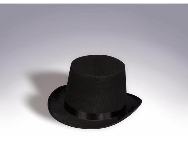 Black Felt Costume Top Hat Adult Standard