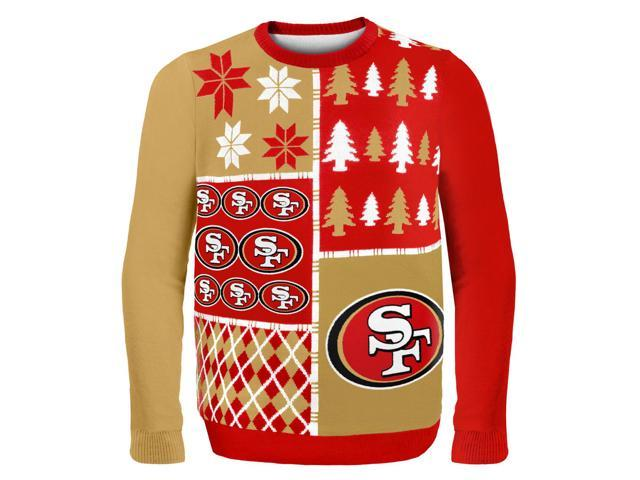San Francisco 49Ers Busy Block NFL Ugly Sweater XX-Large