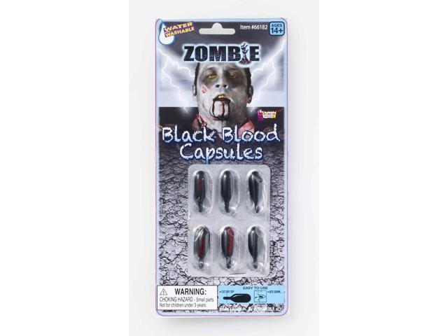 Zombie Black Blood Capsules Costume Accessory