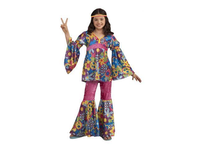 Hippie Flower Power Costume Child Large 12-14