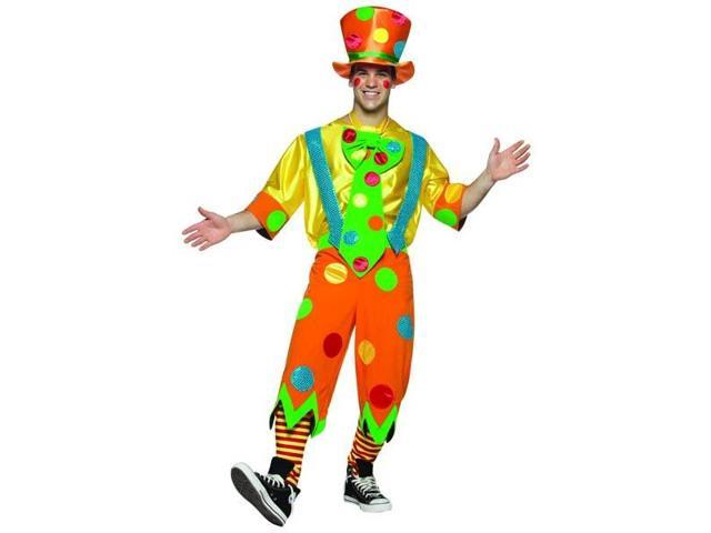 Toots The Clown Circus Man Male Costume Adult Standard