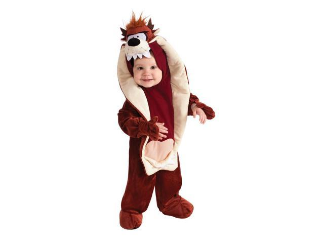 Looney Tunes Tasmanian Devil Romper Costume Infant Toddler 6-12 Months