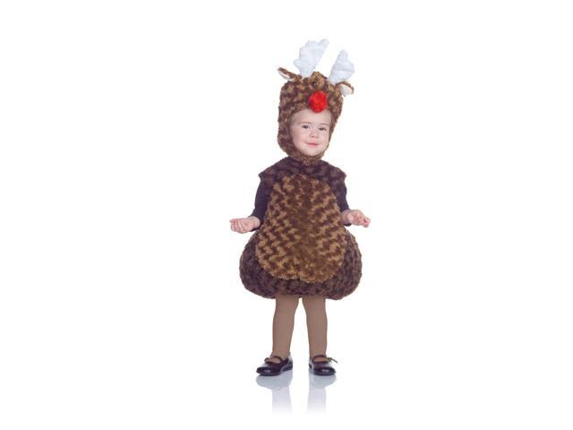 Belly Babies Holiday Reindeer Costume Child Toddler 18-24 Months