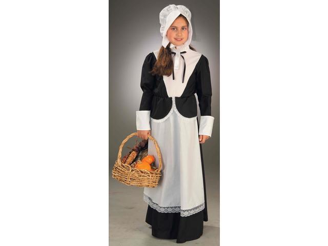 Thanksgiving Pilgrim Girl Costume Child Medium