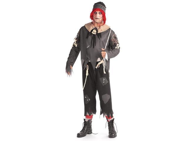 Gothic Male Rag Doll Adult Costume Standard