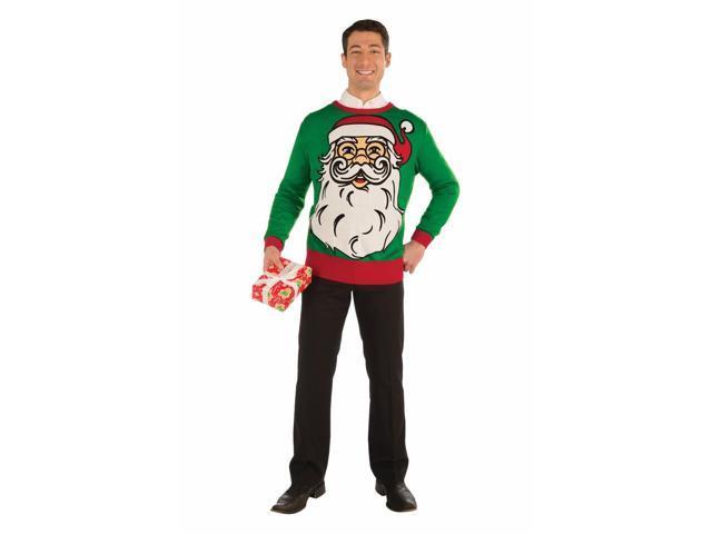 Big Santa Ugly Christmas Sweater Adult X-Large