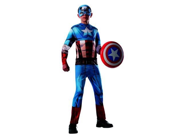 Avengers Assemble Marvel Captain America Child Costume Medium