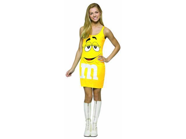 M&M Candy Yellow Tank Dress Costume Teen Teen 13-16
