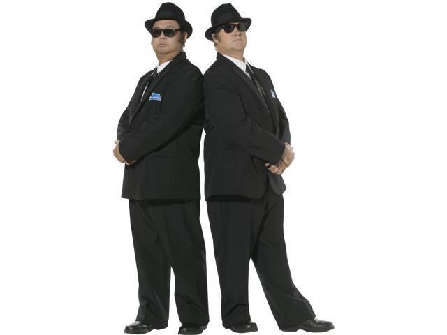 Blues Brothers Black Suit Jacket & Trousers Costume Adult Medium