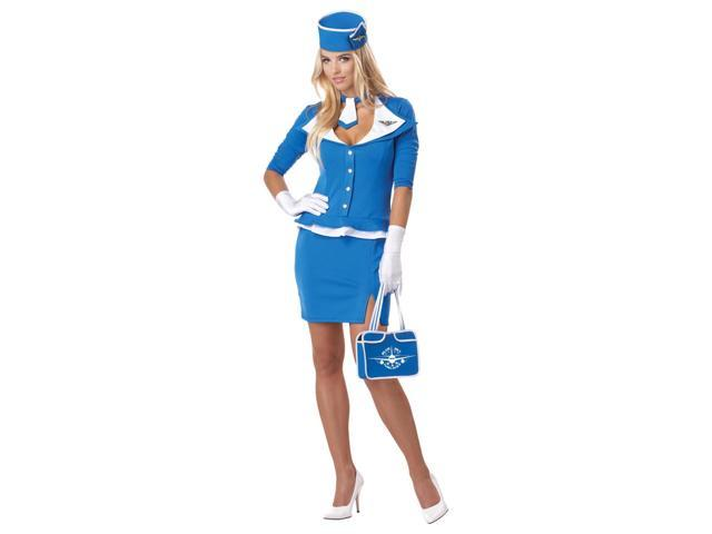 Retro Airline Stewardess Costume Adult Small 6-8