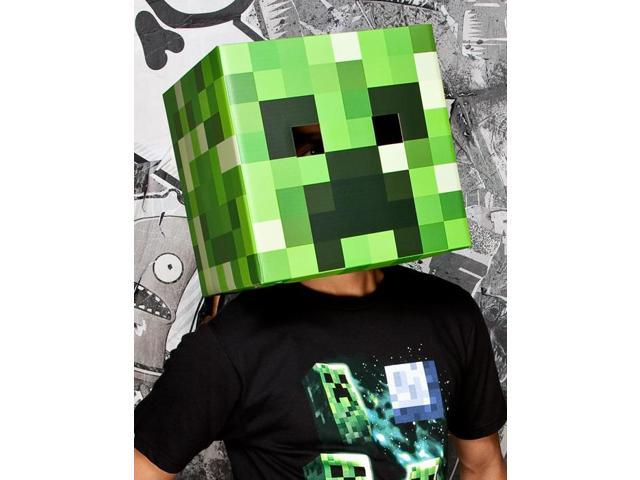 Minecraft Creeper Head Cardboard Costume Mask