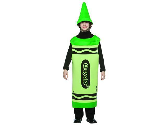 Green Crayola Crayon Child Costume Tween 10-12