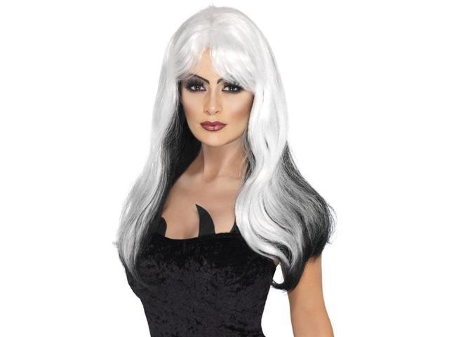 Glamour Witch Adult Costume Accessory Wig - Black & White