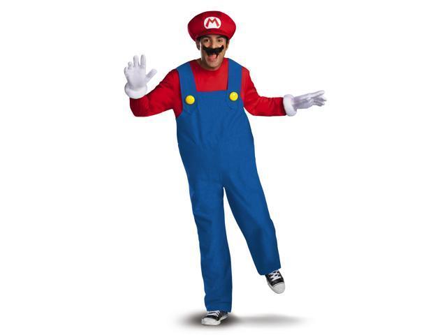 Super Mario Bros Deluxe Mario Costume Adult XX-Large (50-52)