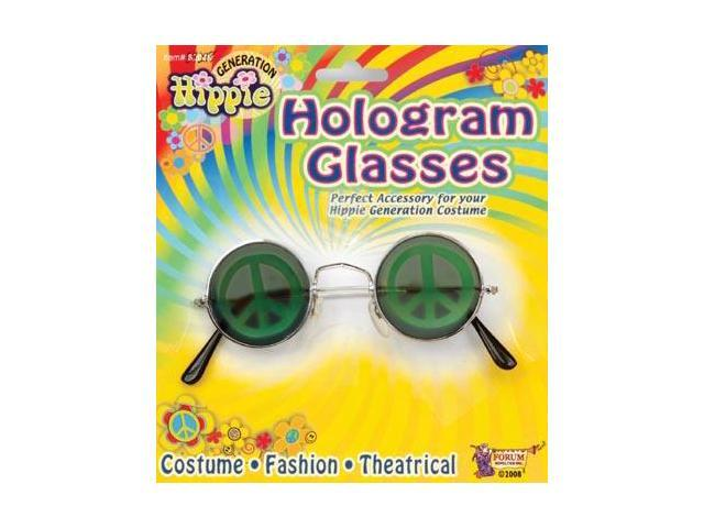 Peace Sign Halogram Costume Glasses