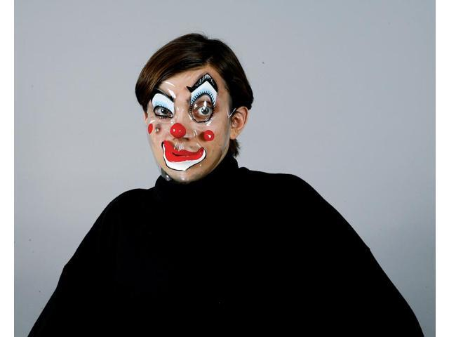 Circus Clown Faces Costume Mask Red Nose