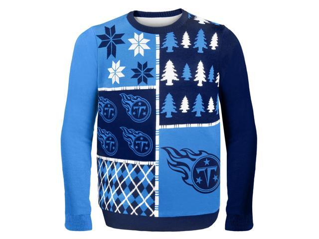 Tennessee Titans Busy Block NFL Ugly Sweater X-Large